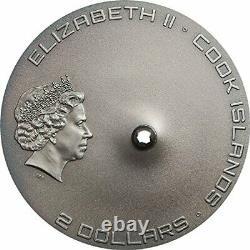 TAMDAKHT METEORITE STRIKE Meteor Silver Coin 2$ Cook Islands 2016 PCGS MS69