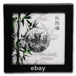 TERRACOTTA WARRIORS 2021 Cook Is, $5 1oz SILVER NGC 70 FR ULTRA HIGH RELIEF COIN