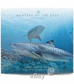 TIGER SHARK Hunters of the Deep 1 Oz Silver Coin 2$ Solomon Islands 2020