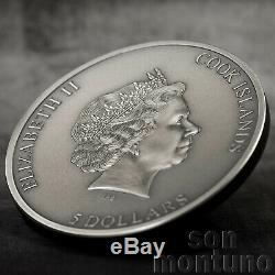 TRAPPED 1 Oz Antique Finish Silver Coin 2019 Cook Islands $5 Dollars SOLD OUT