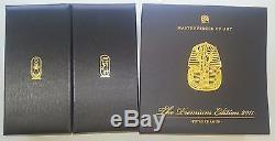 TUTANKHAMUN gold silver coin Masterpieces of Art Swarovski $20 Cook Islands 2011