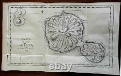 Tahiti Pacific Islands Captain Cook's Voyages 1774 engraved map