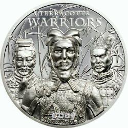 Terracotta Warriors 1 oz Proof Silver Coin Cook Islands 2021