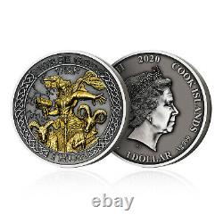 Thor Norse God 2oz Silver Coin Limited Edition Extremely Rare Collectable
