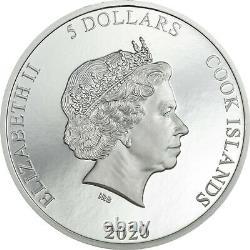 VINALES METEORITE 1oz Silver High Relief Proof Coin 2020 COOK ISLANDS $5 Dollars