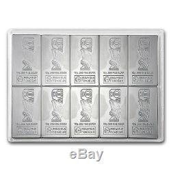 Valcambi Suisse CombiCoin 10 x 10 g gram. 999 Silver Bar (Cook Islands)
