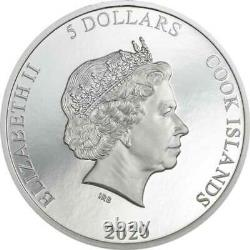 Vinales Meteorites Impacts 1 oz Proof Silver Coin 5$ Cook Islands 2020