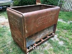 Vintage Rare 1940s Coke Cooler Chest, Re-purpose Bar, Island Cooler Chest