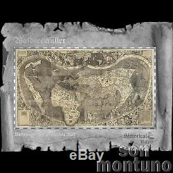 WALDSEEMULLER Historical Maps 30 Gram Flexible Silver Note 2018 Cook Islands $5