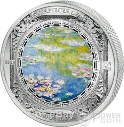 WATER LILIES Monet Masterpieces of Art 3 Oz Silver Coin 20$ Cook Islands 2015