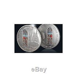 WINDOWS OF HEAVEN COLOGNE Silver Coin 10$ Cook Islands 2010