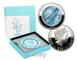Year of the Rat, Cook Islands, 25 Dollars, 2020, 5 oz. Silver