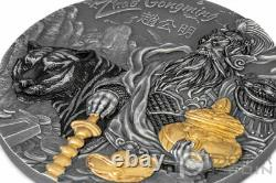 ZHAO GONGMING Gilded Asian Mythology 3 Oz Silver Coin 20$ Cook Islands 2021